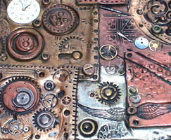 Polymer Clay Steampunk Closeup by ValerianaSolaris