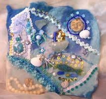 Mermaid Bead Embroidery Finish by ValerianaSolaris