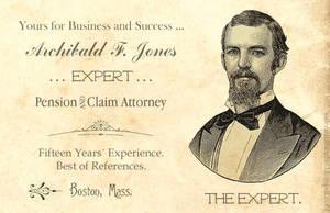 Archibald Jones Business Card by ValerianaSolaris