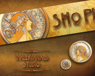 Mucha Zodiac Bannerdesign by ValerianaSolaris