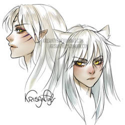 Inuyasha and Sesshomaru by Krisantyl