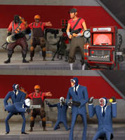 Pyro! That Scout's a Spy! by DarknessRingoGallery