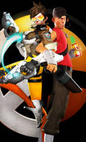 Tracer vs Scout (SFM) by DarknessRingoGallery