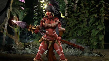 League of Legends - Nidalee the Bestial Huntress by DarknessRingoGallery
