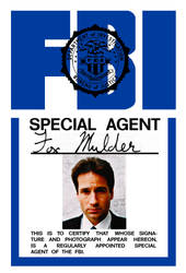 The X-Files - Fox Mulder FBI Badge Replica by Morsoth