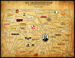 My Geekiness Map (Updated November 2018) by Morsoth