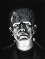 The Monster on black velvet by BruceWhite