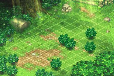 Scene for Battle. Green1 by Mangust-art