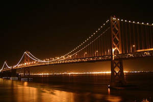 Golden Gate Bridge at Night by Artfoundry