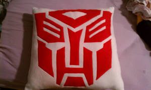 Transformers Pillow Autobot Side by kmrsworld734