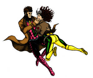 Rogue and Gambit Commission (CoLoR) by JJ422