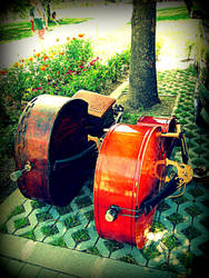 Double Bass Couple by AndreaGerak