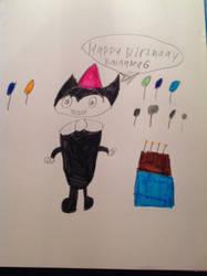 Cosmic wishing Rainalea6 a happy birthday by Railfaneric