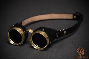 Steampunk brass goggles by LahmatTea