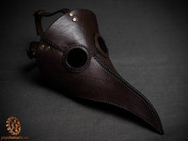 Dark brown plague doctor mask by LahmatTea