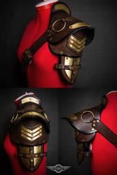 Steampunk shoulder pad final by LahmatTea