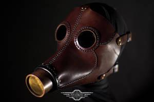 Desolator steampunk leather mask by LahmatTea
