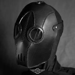 Transmutator black leather mask by LahmatTea