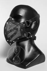 Sagaris black leather mask by LahmatTea
