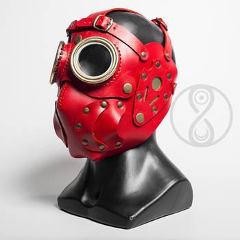 Overseer leather art mask by LahmatTea