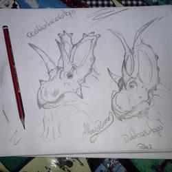 Coahuilaceratops and Diabloceratops by piche2