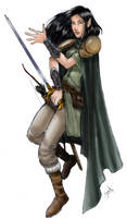 Noelle, female elf warrior by WillDan