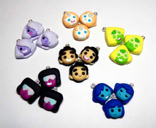 Steven Universe Polymer Clay Charms by Mighty-Morphin-Mimi