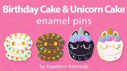 Cake Enamel Pins Kickstarter by Mighty-Morphin-Mimi