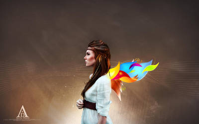 Colorful Wings Wallpaper by aeli9