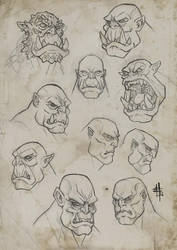 Orc Sketches 2015 by JerryTengu