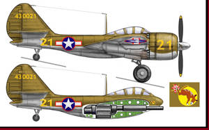 Veeblefitzer - Curtiss A-44 Flying Cannon by Jimbowyrick1
