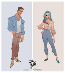 Aden and Evie by Ardinaryas
