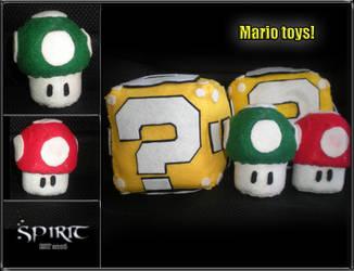 Mario Mushrooms by spiritimvu