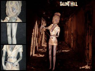 Silent Hill Nurse Doll by spiritimvu