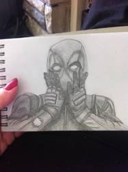 Deadpool In Pencil by spiritimvu