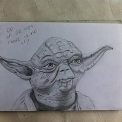 Yoda in Pencil by spiritimvu