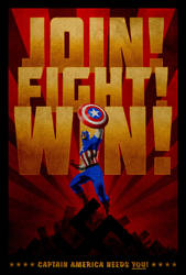 Captain America poster by drMIERZWIAK