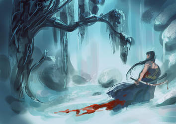 Speedpaint - Winter Samurai by JaredKeith