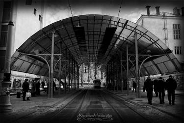 Tram stop. Lviv by MyLifeIsMine