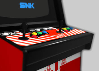 NEO GEO MVS Cabinet Control Panel (3D) by Arcade-TV