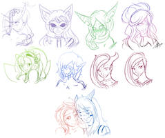 50 Point Sketches: Batch 1 by Kaeilia
