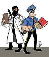 Axe Cop and Dr. McNinja by juniorbethyname