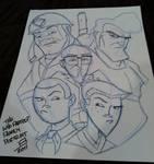 Con Sketch - The Venture Fam by juniorbethyname