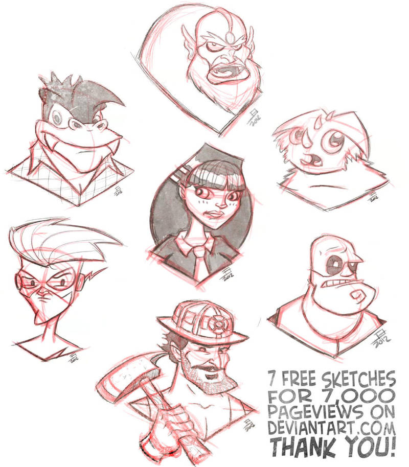 7 Sketches by juniorbethyname