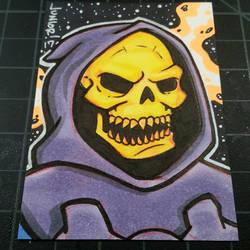 Skeletor Sketchcard  by juniorbethyname