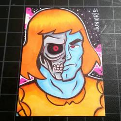 Faker He-man Sketchcard  by juniorbethyname