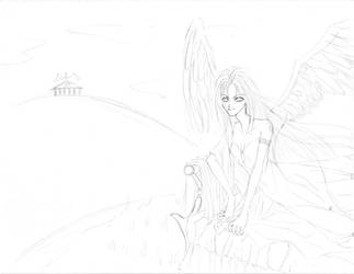 Angel on bed by manzo