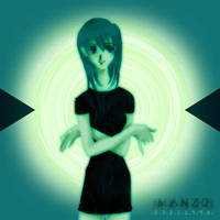 Old CG 08 Girl in green by manzo