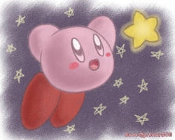 Crayon Kirby by Rosa-Mystical