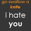 Yeah Ill knife you by Brookers